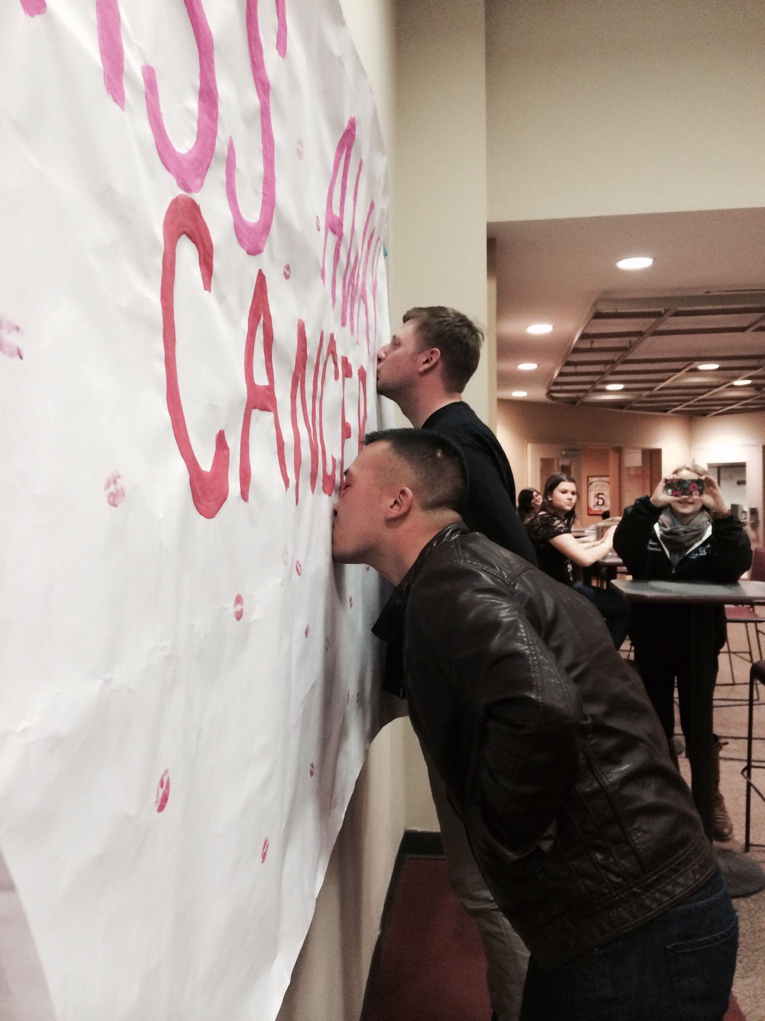 Kiss Away Cancer Zeta Tau Alpha At Rider University Think Pink