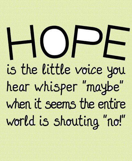 Hope, hope nereavpv