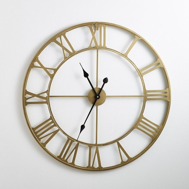 Zivos Brass Coloured Metal Clock In 2019 Home Decor