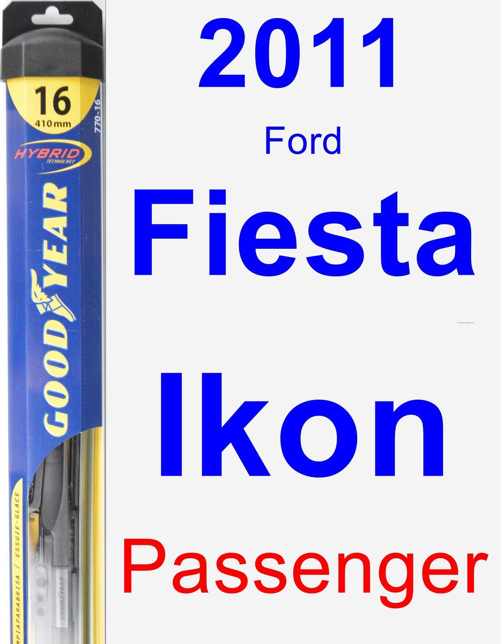 Passenger Wiper Blade For 2011 Ford Fiesta Ikon Hybrid