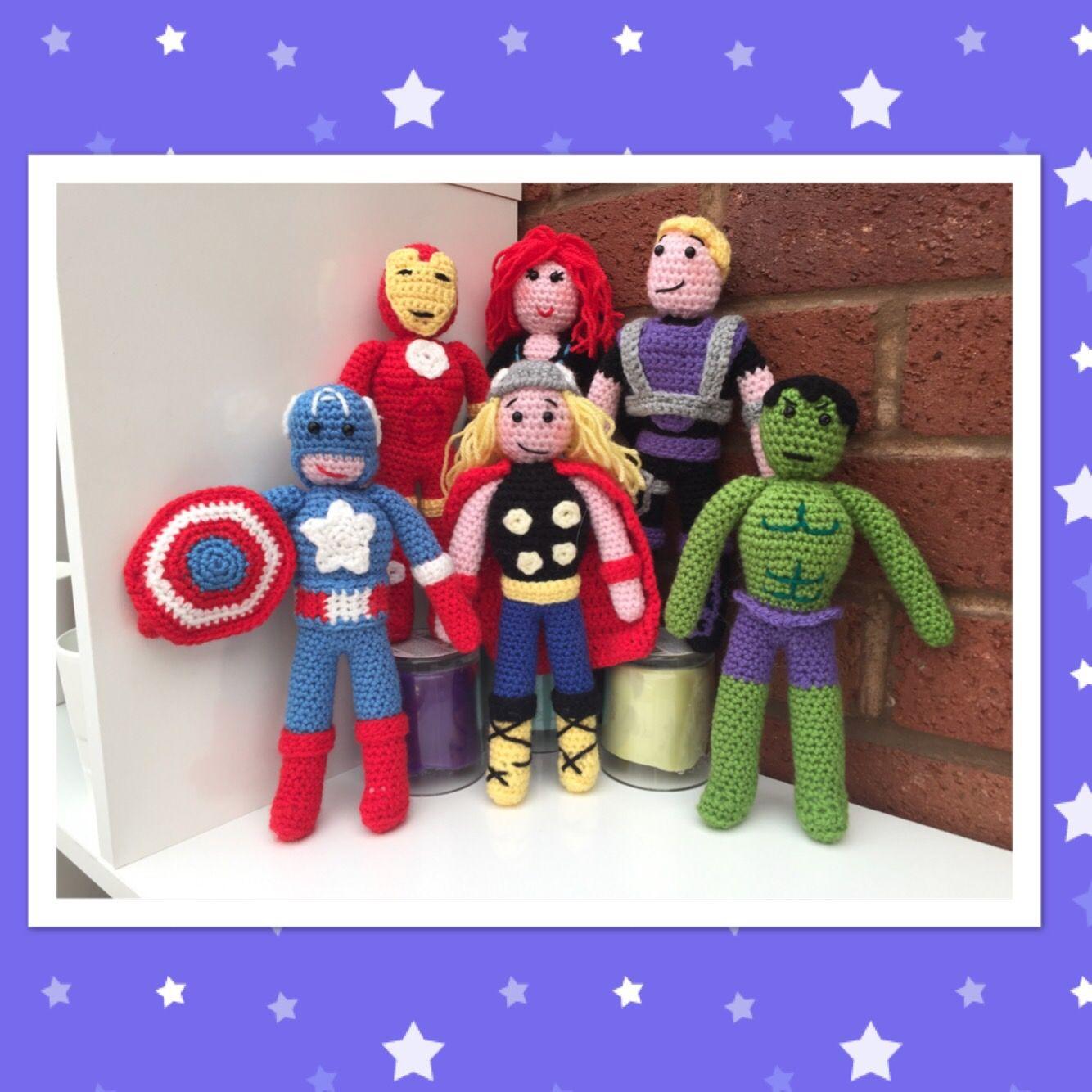 The Avengers Full Crochet Patterns Crochet Pinterest Crochet