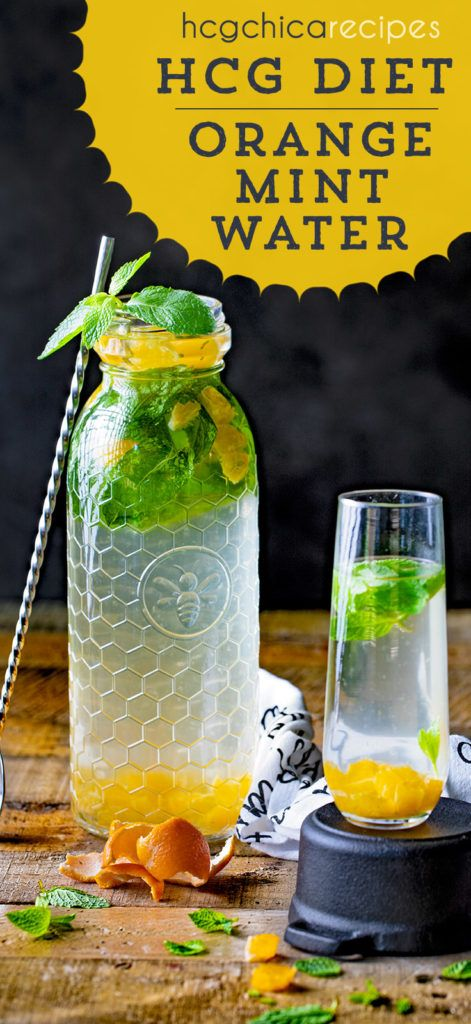 P2 hCG Diet Drink Recipe | Orange Mint Water | SP - hcgchicarecipes.com #mintdrink