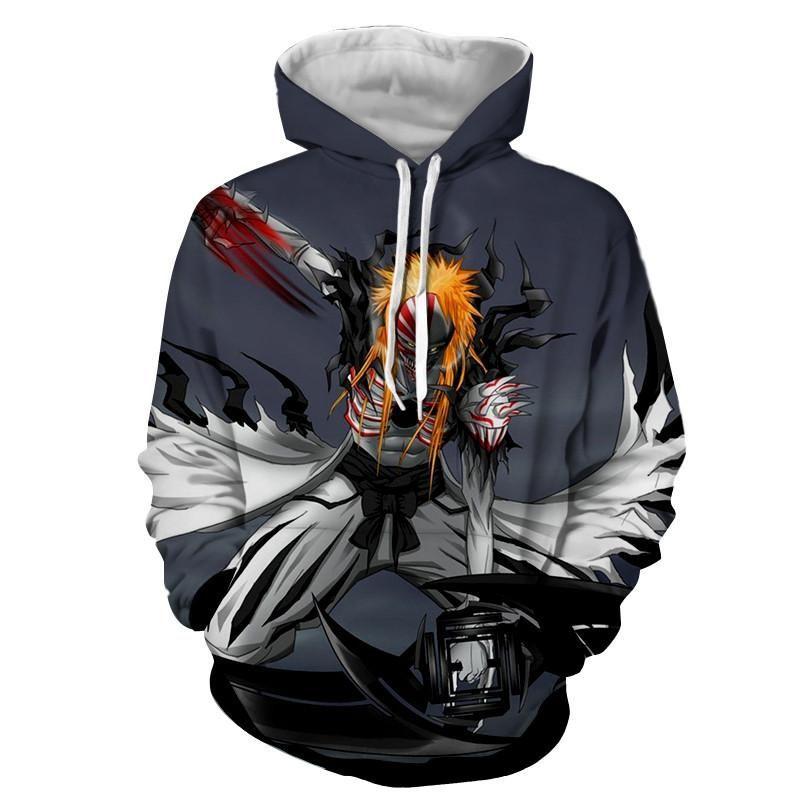 Bleach ichigo hollow full form fan art design hoodie