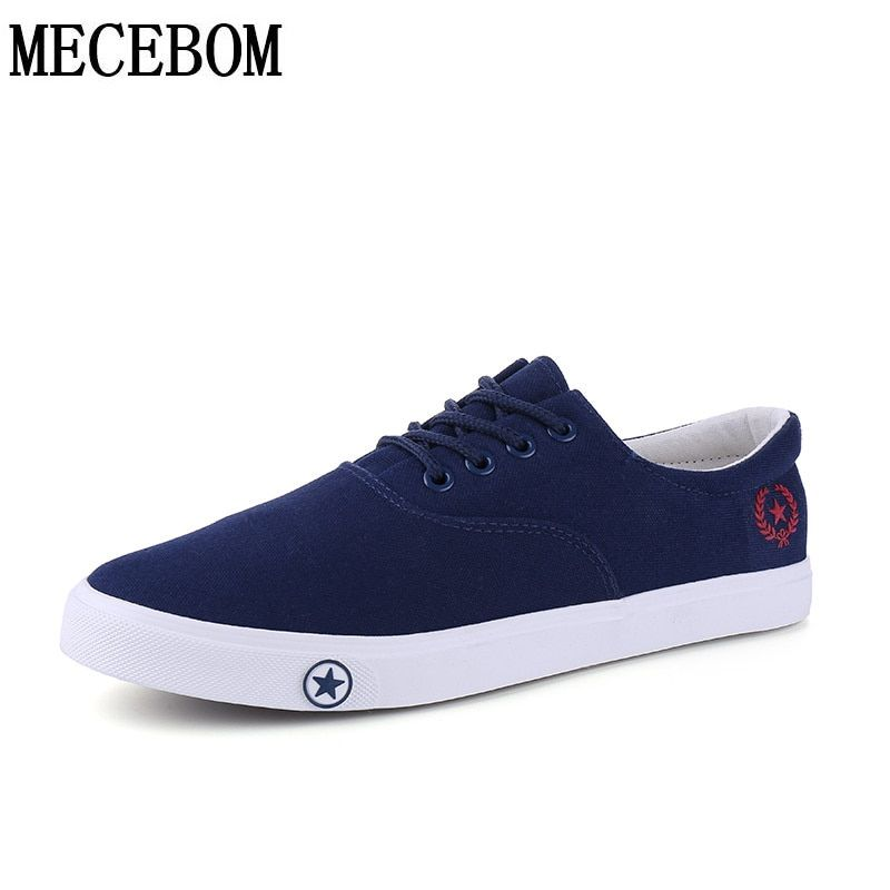 bf9bea4e21c7 Men s Canvas Shoes hot sale breathable casual shoes for male lace-up  vulcanized shoes men flats footwears size 39-44 a507m