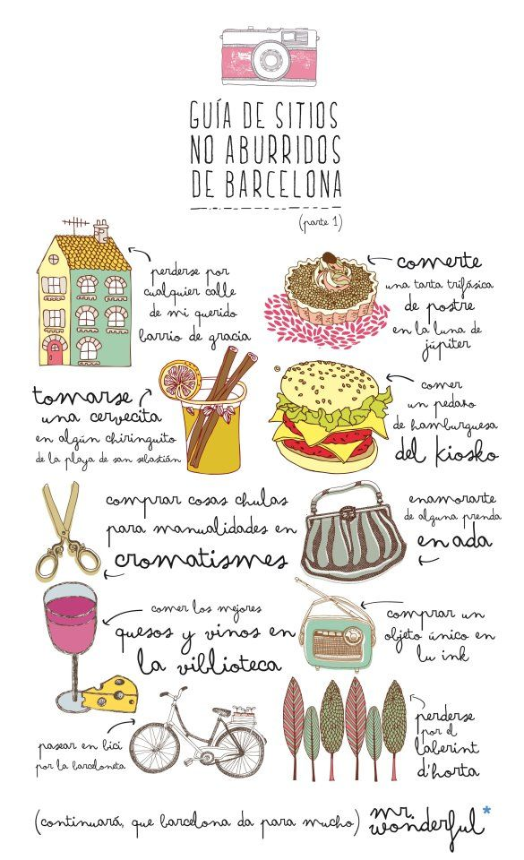 Pequeña guía no aburrida de Barcelona por Mr. wonderful :: diseño gráfico para eventos no aburridos ::
