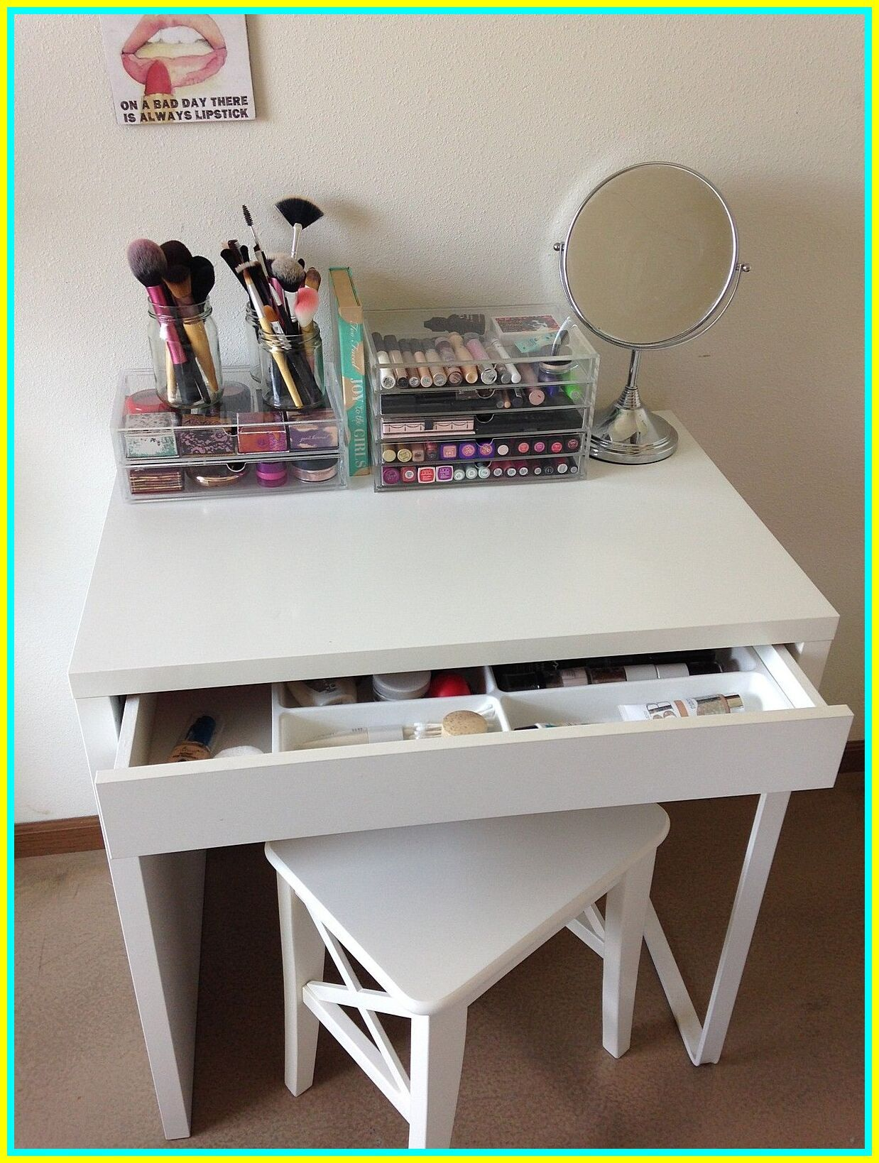 93 reference of small desk vanity with drawers in 2020