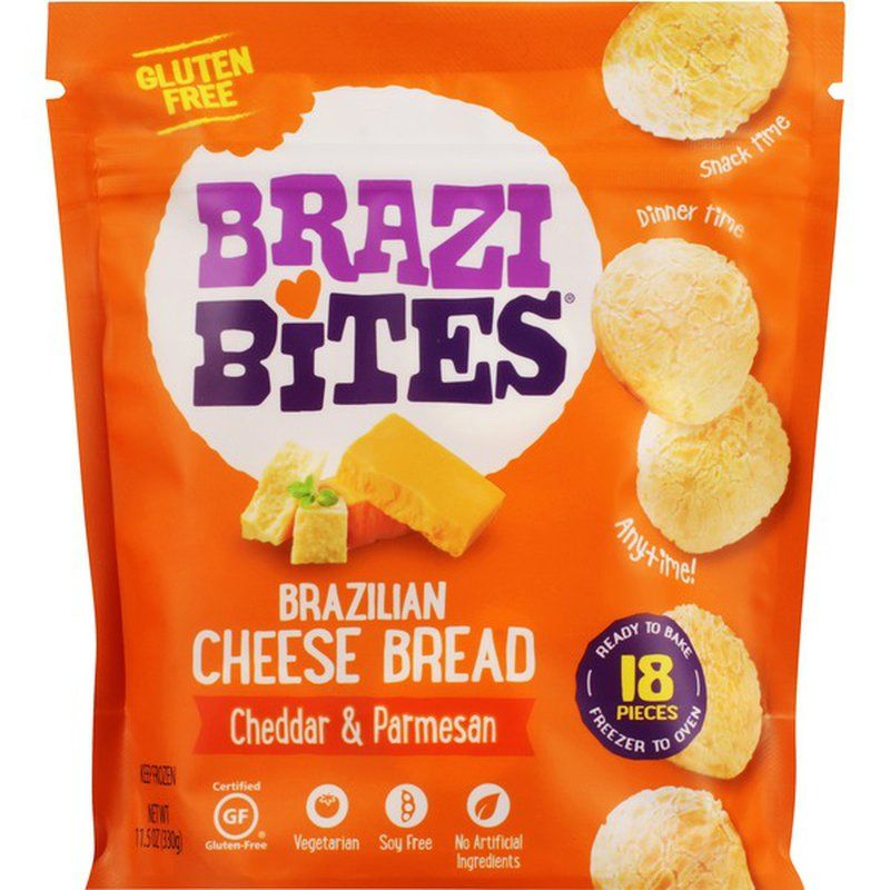Brazi Bites Cheddar Parmesan Brazilian Cheese Bread Brazilian Cheese Bread Brazi Bites Cheese Bread