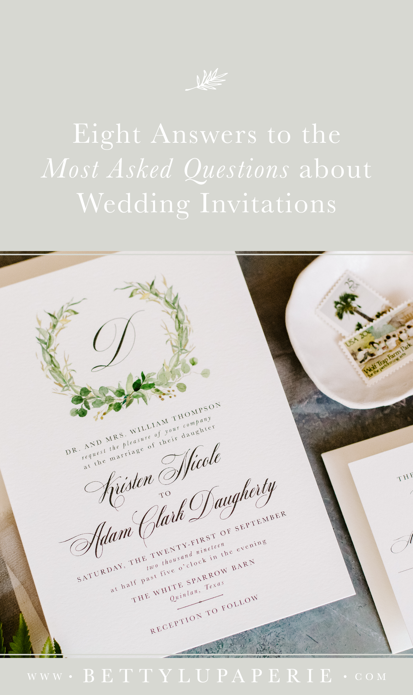 8 Answers To Top Wedding Invitation Etiquette Faqs Floral Wedding Invitations From Betty Lu Paperie Wedding Invitation Etiquette Wedding Invitations Invitation Etiquette