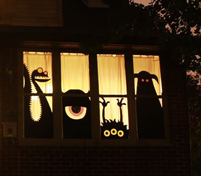 33 Halloween-Fensterdekorationsideen, die Sie nicht verpassen möchten - Hause Dekore