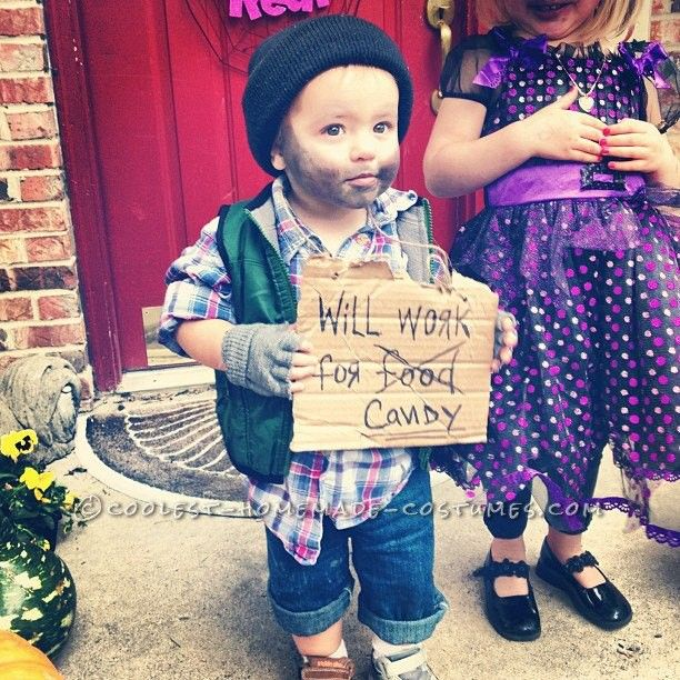 easy last minute toddler costume idea hobo toddler boy halloween costumestoddler - Easy Things To Be For Halloween