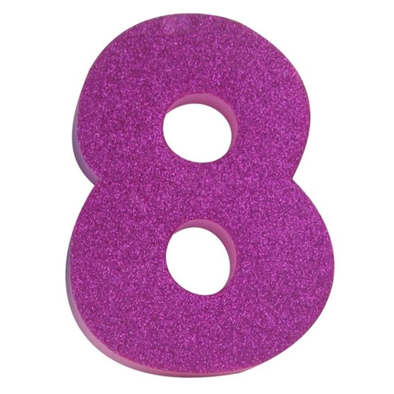 8 hobbycraft glitter foam number 8 pink hobbycraft