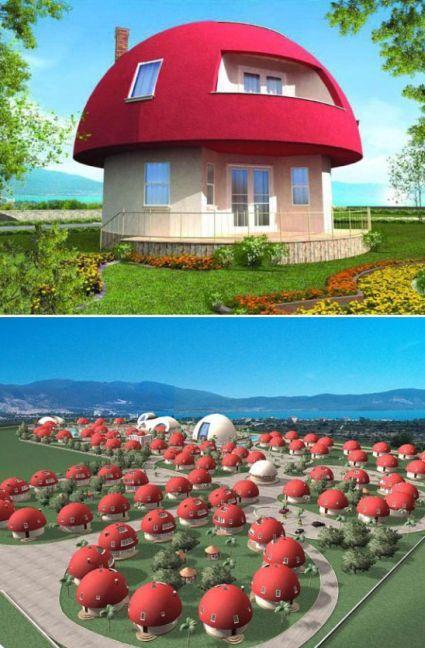 Photo of Case vacanza a forma di fungo uniche e altre case creative