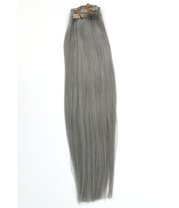 Platinum Gray Clip In Extensions Hair Extensions Extensions And