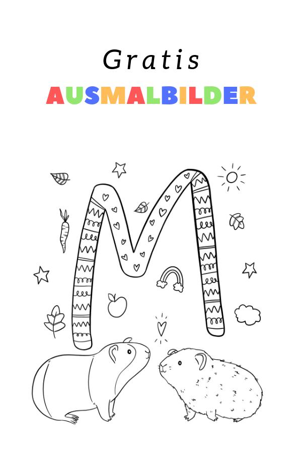 Ausmalbild M Wie Verliebte Meerschweinchen Von Alexa Malt Freubundel Ausmalen Ausmalbild Ausmalbilder