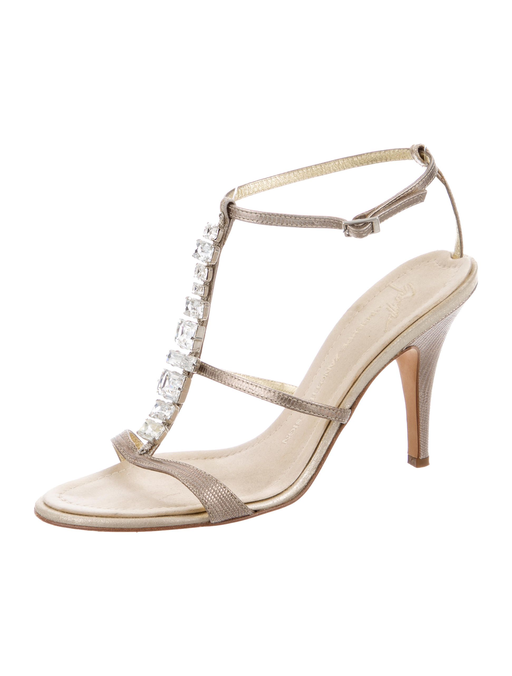 Giuseppe Zanotti Embossed Embellished Sandals extremely for sale outlet clearance QLO0f
