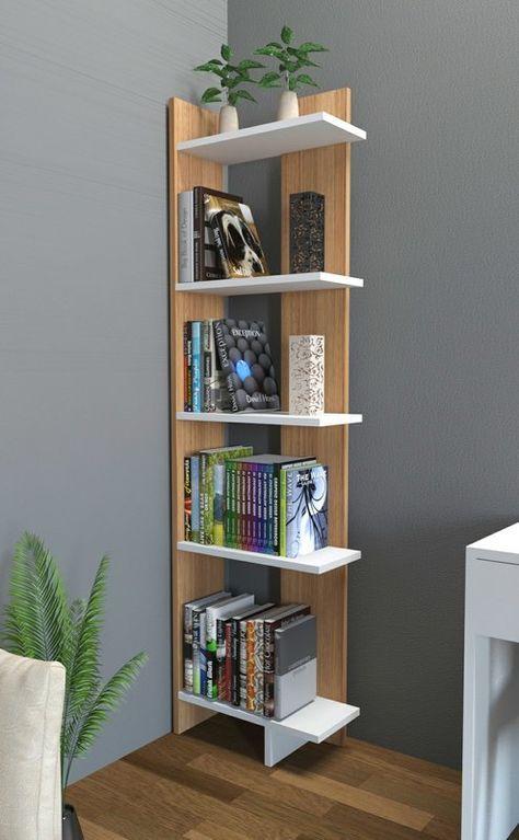 Lorena Ladder Corner Unit Bookcase Wood Ideas Shelves
