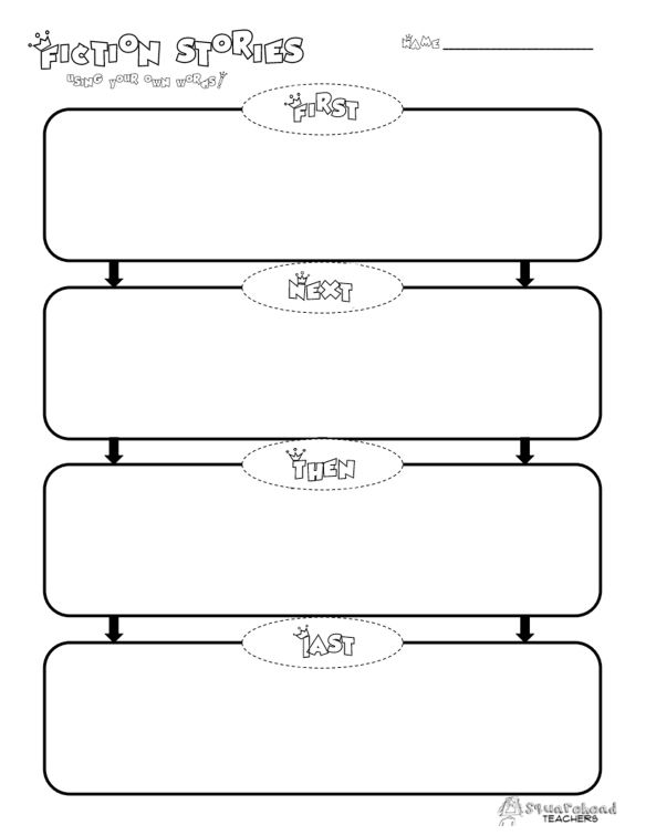 Here S A Free Graphic Organizer For Your Students To Practice Sequencing Summarizing Or Story Writing Great Literacy Centers Enjoy