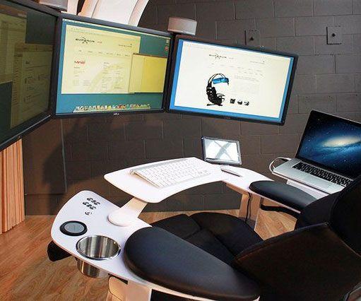the ultimate computer station dandk 39 s hair design pinterest computer workstation computer. Black Bedroom Furniture Sets. Home Design Ideas