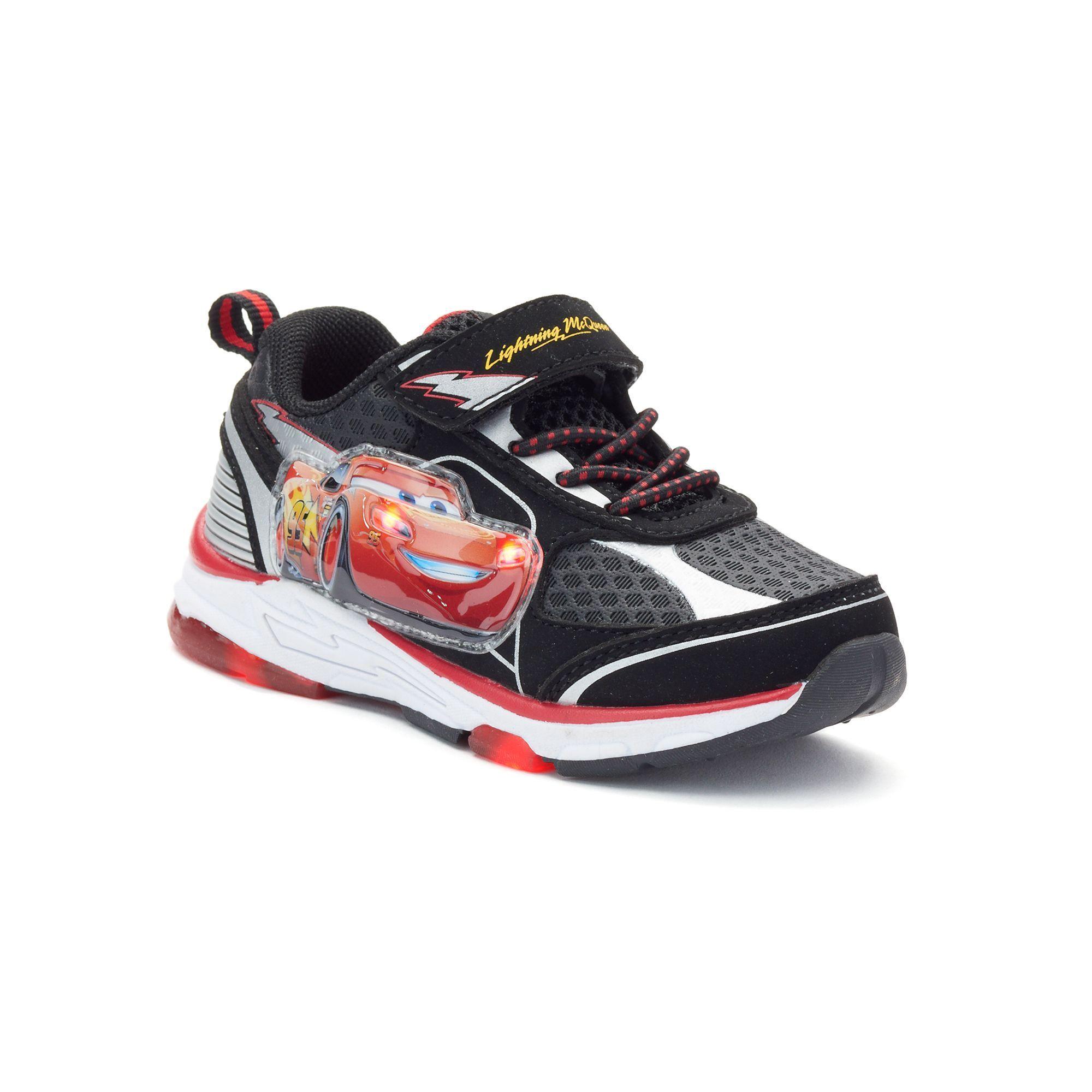 Disney Pixar Cars Lightning McQueen Toddler Boys Light Up Shoes