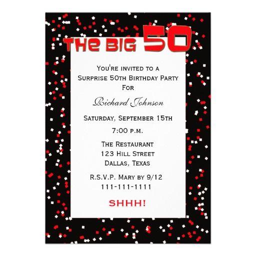 50th surprise birthday party invitation confetti 50th birthday 50th surprise birthday party invitation confetti filmwisefo