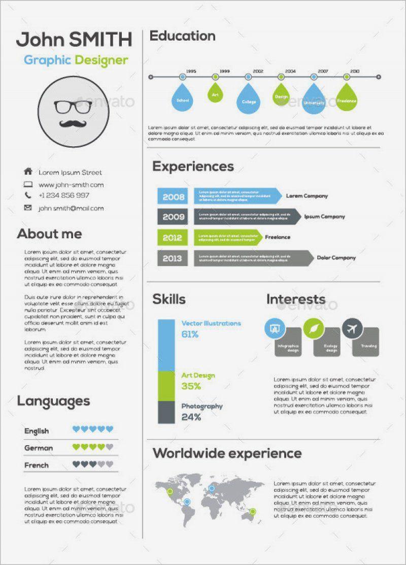 15 Free Infographic Resume Template Ideas di 2020 Desain