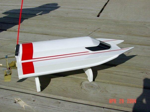 Scratch built rc boat