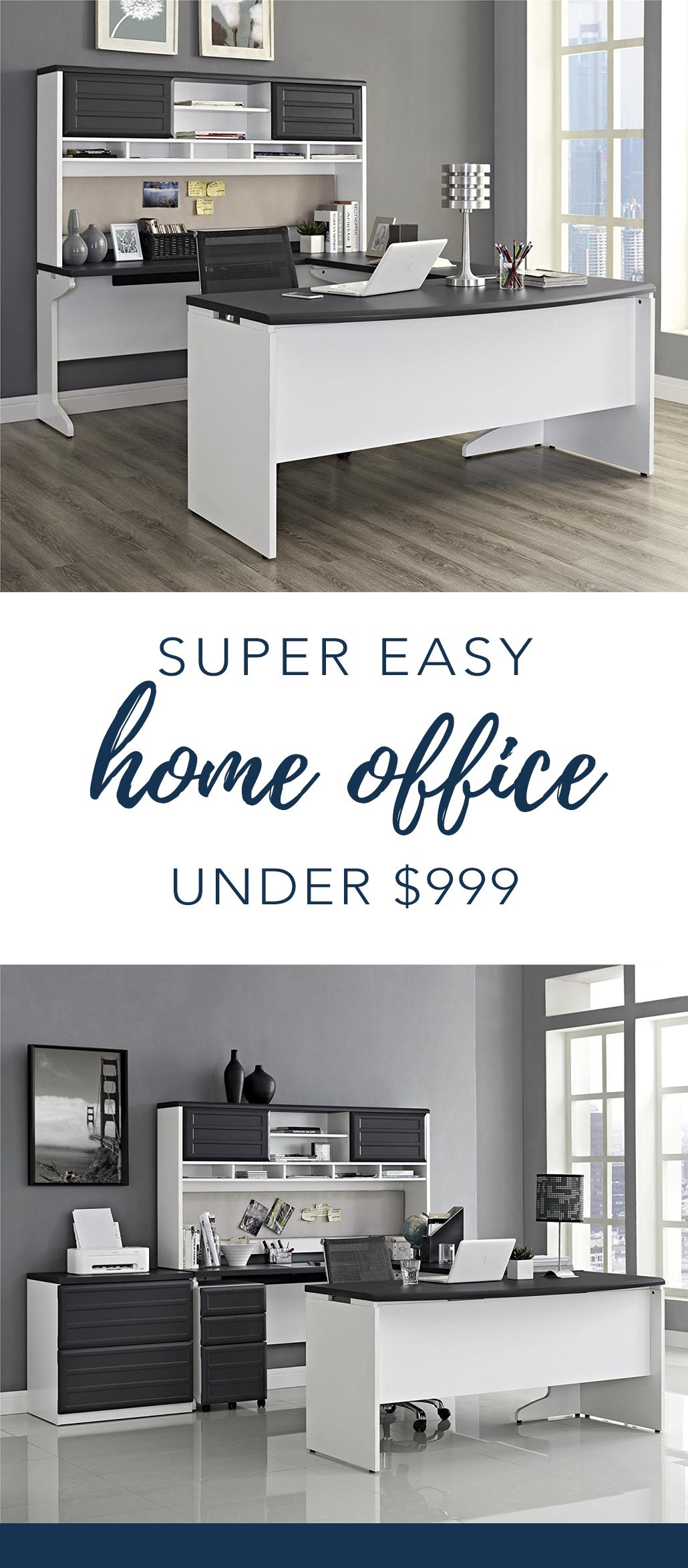 Home Office Design Ideas + Inspiration | Pinterest | Office setup ...