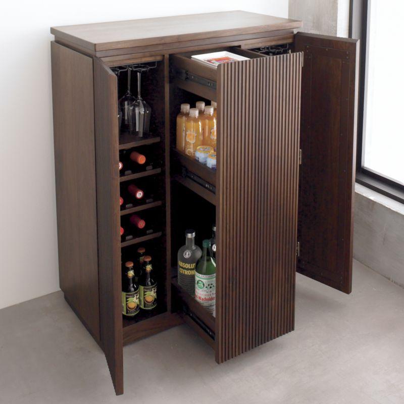 Monaco Bar Cabinet Crate And Barrel Bar Cabinet Bar Furniture Bar Storage