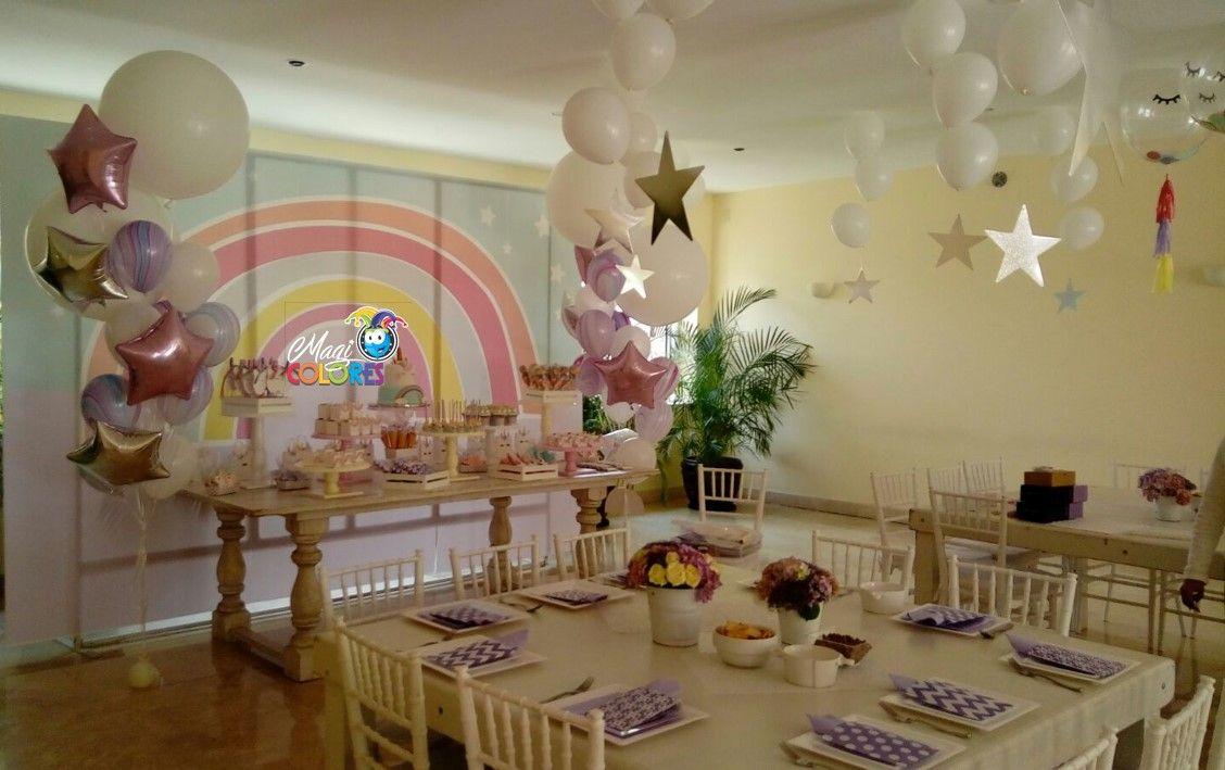 Fiesta unicornio con globos decoraciones infantiles con - Ideas decoracion infantil ...