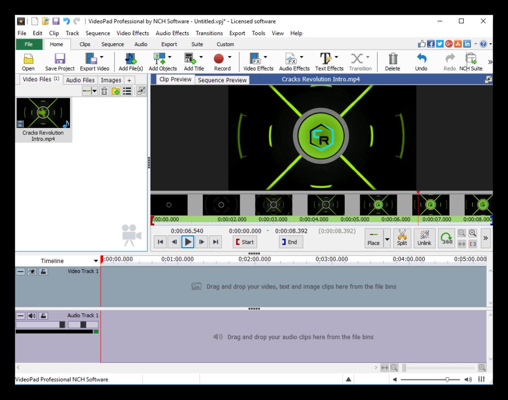 nch videopad video editor registration key