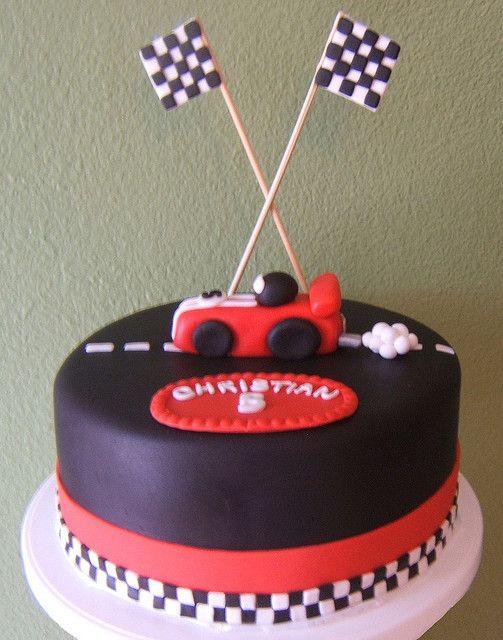 race car cake Car cakes and Race car party