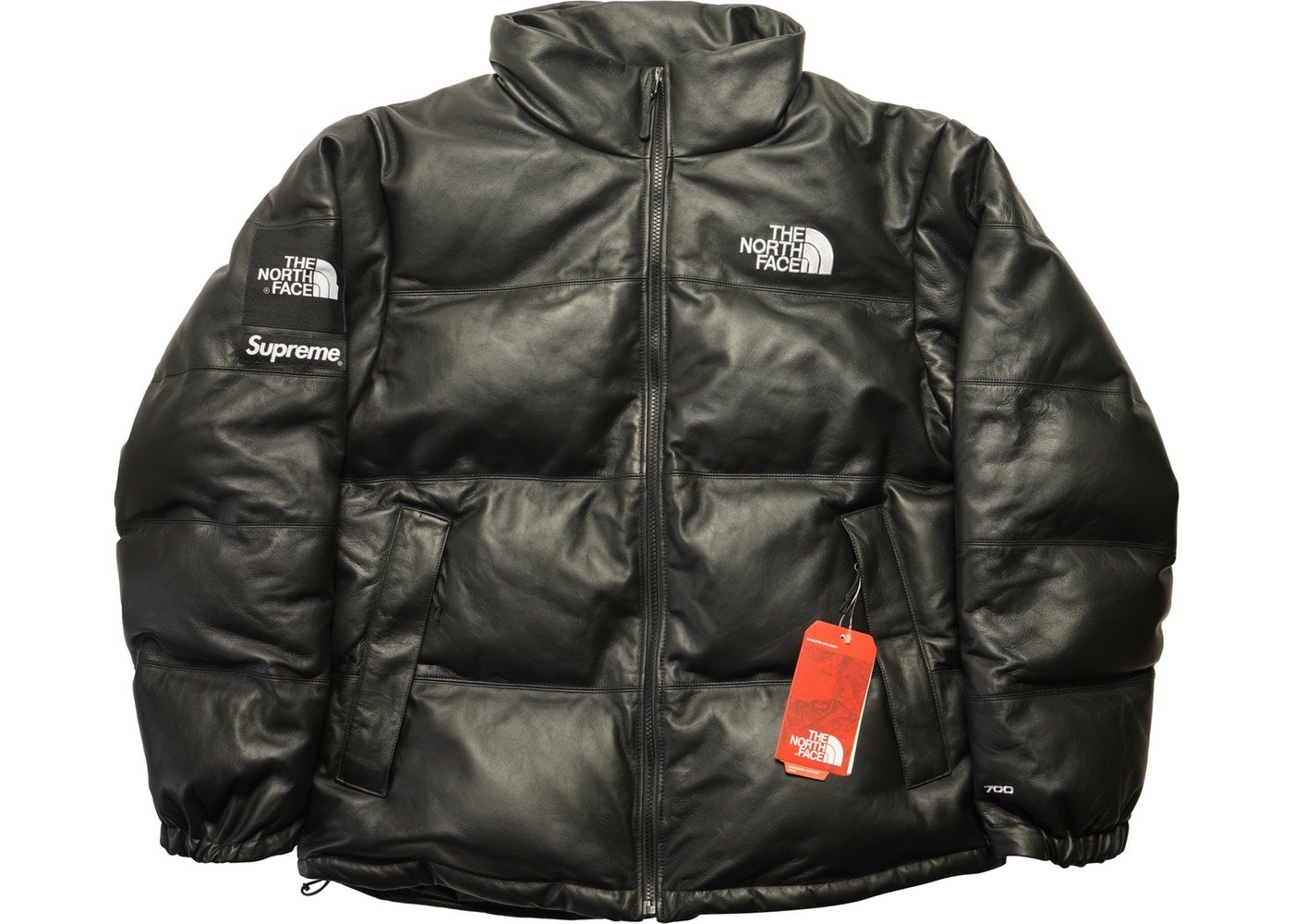 Supreme The North Face Leather Nuptse Jacket Black The North Face Jackets Black Jacket