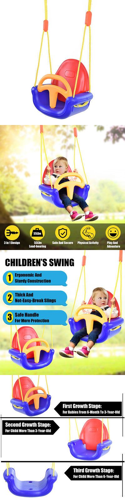 Swings Slides And Gyms 16515 3 In 1 Infant To Toddler Swing Set