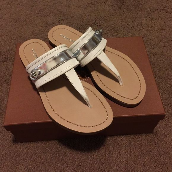 Sale New Coach Turnlock Sandals New in box Coach Turnlock sandals size 7 Coach Shoes Sandals