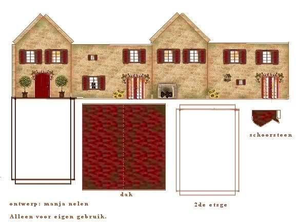 Casas recortables de papel para imprimir imagui casa for Piscinas para armar en casa