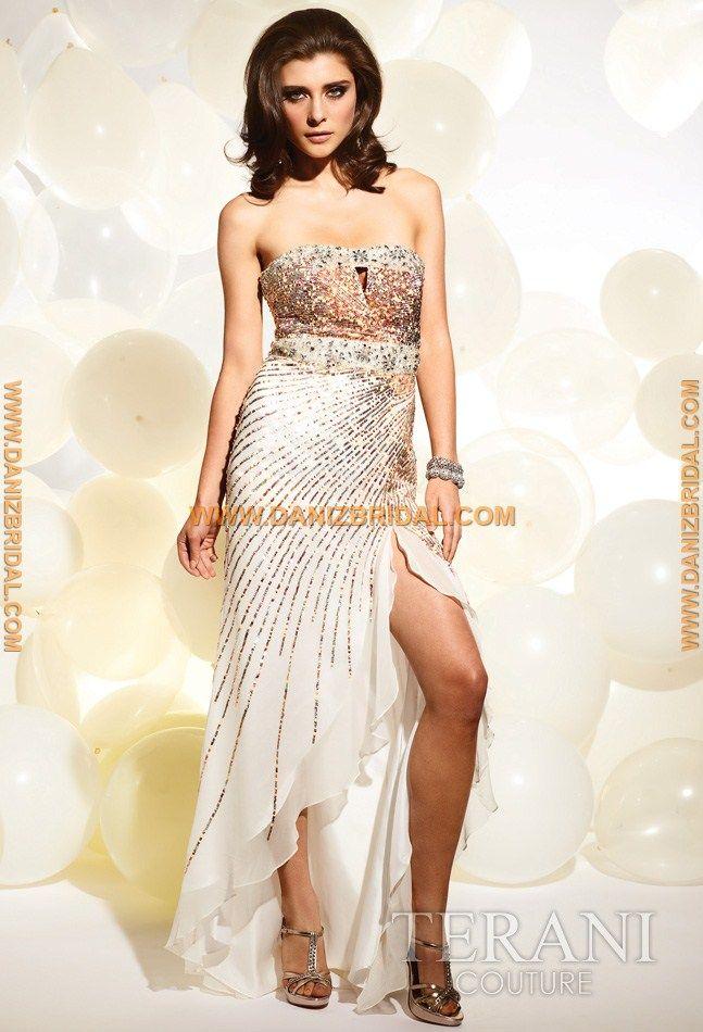 Terani P3140 Dress - $341 | Strapless prom dresses, Prom