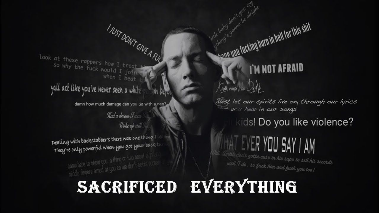 Eminem Sacrificed Everything Ft Tupac 2018 Marshall Mathers