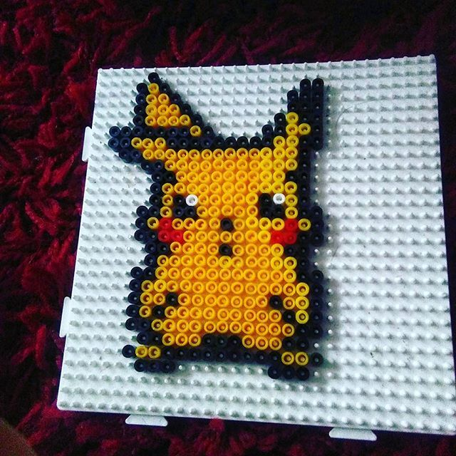 pikachu perler beads by belfastbeads perler beads. Black Bedroom Furniture Sets. Home Design Ideas