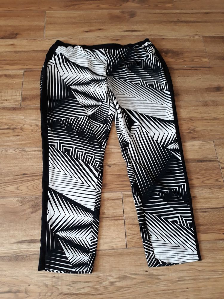 9bfabd1bca0 Fab black n white mono Gok trousers size 18R  fashion  clothing  shoes