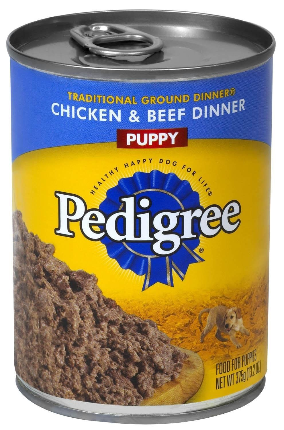 Pedigree brand canned dog food for puppies click image