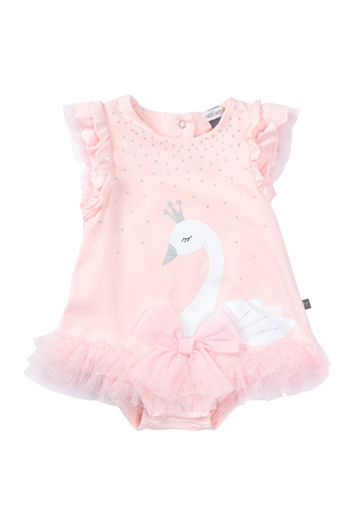 Swan Dress Bodysuit Baby Girls