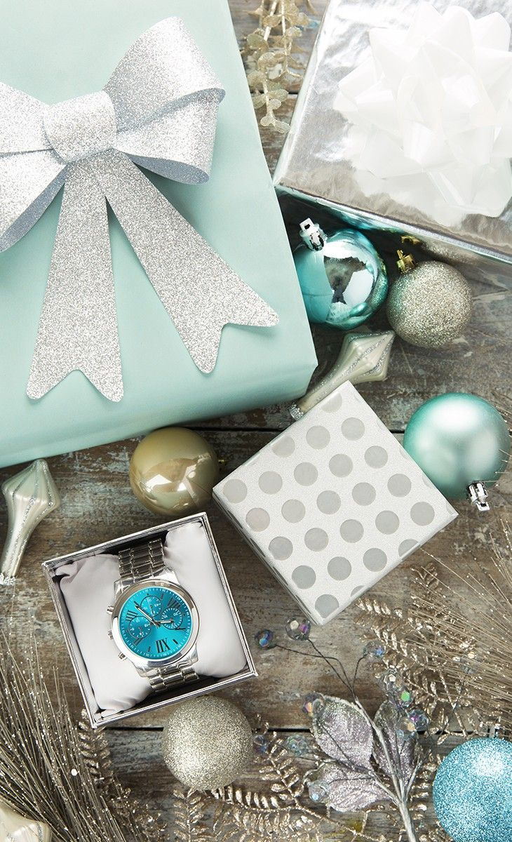 'Tis the season!  Brighten someone's day with metallic hues and a new boyfriend bracelet watch.
