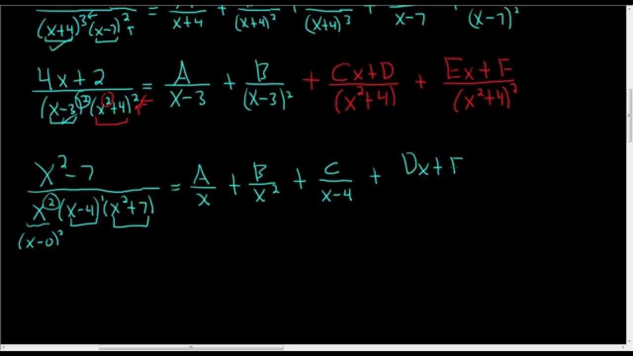 How to set up the partial fraction