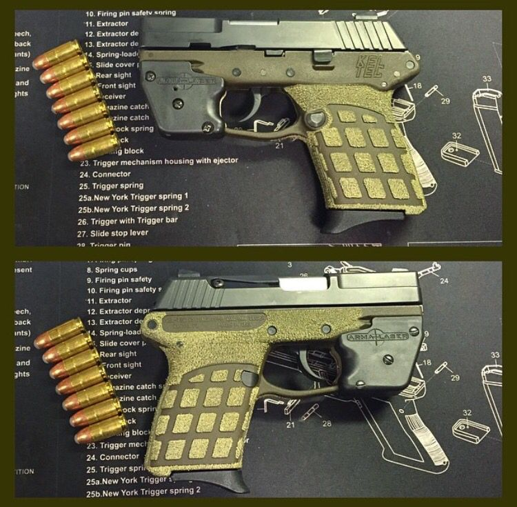 Kel tec PF9 custom stippled | Fire Arms | Hand guns