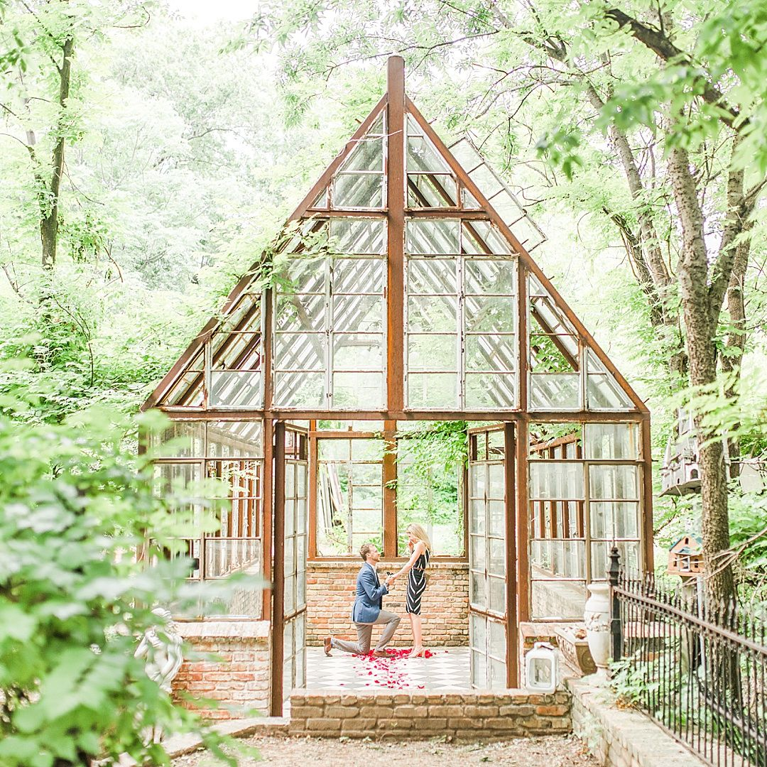 Austin Proposal At Sekrit Theater Glass Greenhouse 0041