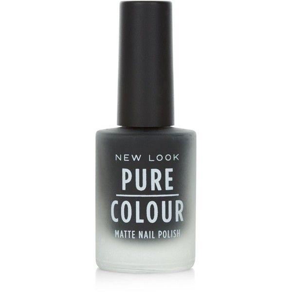 New Look Pure Colour Black Matte Nail Polish ($4.29) ❤ liked on ...