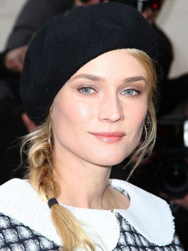 8b5c514a She may not be French but actress Diane Kruger sure knows how to stylishly  wear a beret. #hairideas #hathair