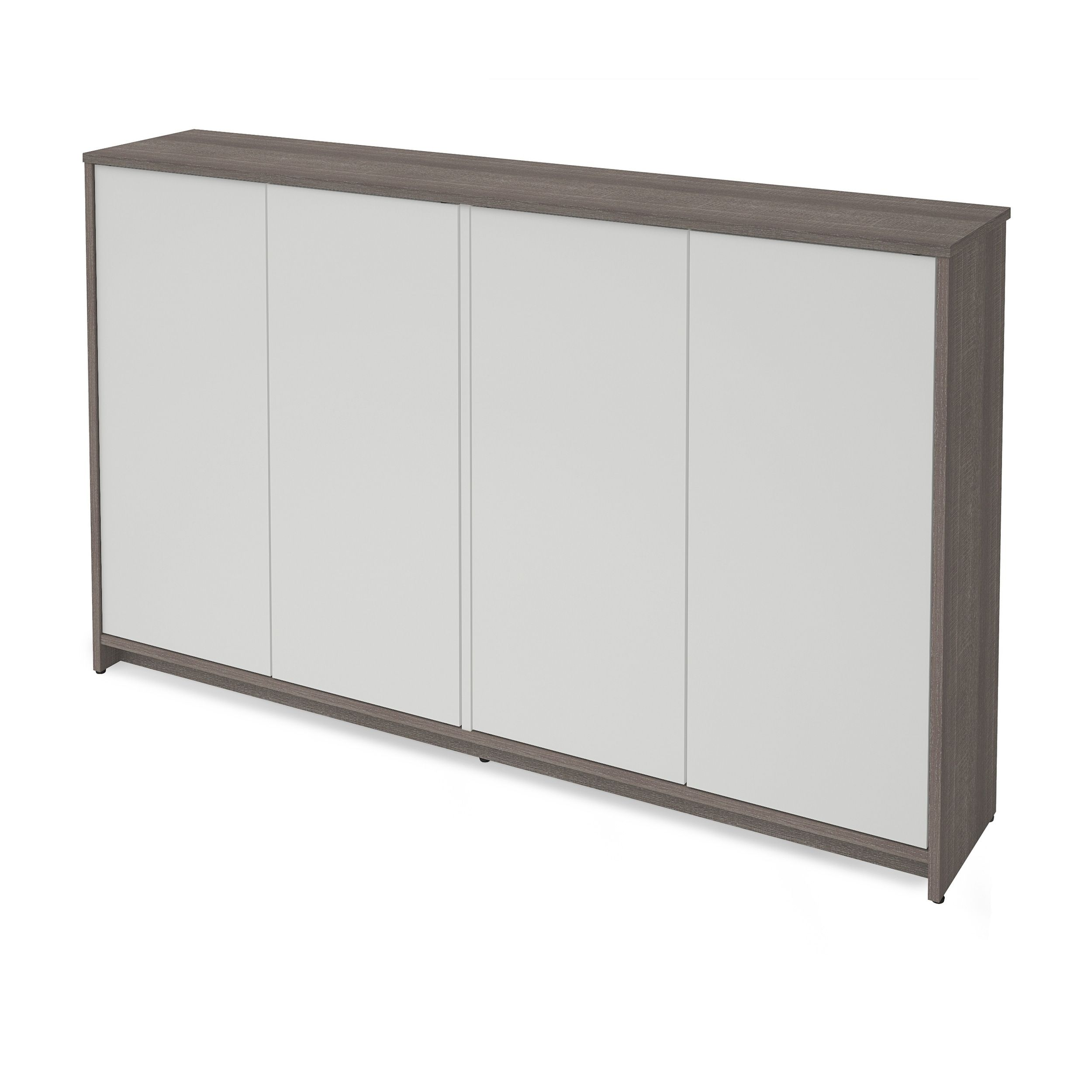 Bestar small space inch storage unit bark greywhite in