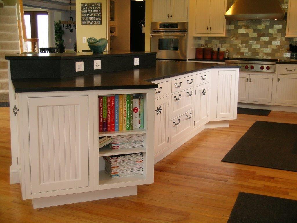 White Kitchen Island with Black Countertops | Kenwood ...