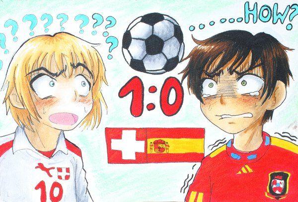 Aph Spain Vs Switzerland Hetalia Anime Switzerland